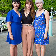 11.05. 2017.                                                 <br /> Over 20 leading Irish and international fashion media and influencers converged on Limerick for 24 hours on, Thursday, 11th May for a showcase of Limerick's fashion industry, culminating with Limerick School of Art & Design, LIT, presenting the LSAD 360° Fashion Show, sponsored by AIB.<br /> Pictured at the event were, Caoimhe McAlister, Drogheda, Laura Kelly, Galway and Saerlaith Molloy, Roscommon. Picture: Alan Place