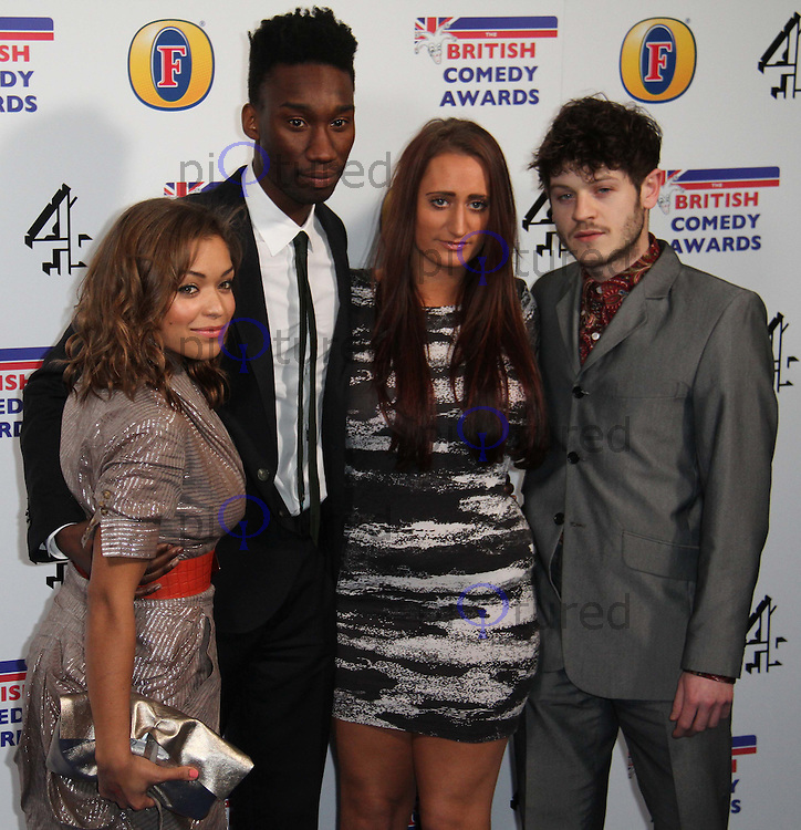 Misfits cast; Antonia Thomas; Nathan Stewart-Jarrett; Lauren Socha; Iwan Rheon British Comedy Awards, O2 Arena, London, UK, 22 January 2011: Contact: Ian@Piqtured.com +44(0)791 626 2580 (Picture by Richard Goldschmidt)