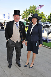 MR & MRS ANTHONY OPPENHEIMER at the Investec Derby at Epsom Racecourse, Epsom Downs, Surrey on 4th June 2011.