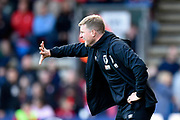 AFC Bournemouth manager Eddie Howe in the technical area during the Premier League match between Bournemouth and Norwich City at the Vitality Stadium, Bournemouth, England on 19 October 2019.