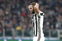 13.12.2018 - Torino - Champions League   -  Juventus-Tottenham nella  foto: la delusione di  Gonzalo Higuain