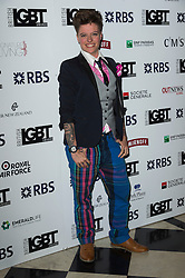 © Licensed to London News Pictures. 13/05/2016. JACK MONROE attends the British LGBT Awards 2016. London, UK. Photo credit: Ray Tang/LNP