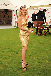 TARA AGACE at the Cartier International Polo at Guards Polo Club, Windsor Great Park, Berkshire on 25th July 2010.