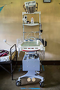 The infrared baby warming machine supplied by VSO to the NICU (Neonatal Intensive Care Unit) Ward. St Walburg's Hospital, Nyangao. Lindi Region, Tanzania.