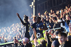 Dru Yearwood of Southend United celebrates survival - Mandatory by-line: Arron Gent/JMP - 04/05/2019 - FOOTBALL - Roots Hall - Southend-on-Sea, England - Southend United v Sunderland - Sky Bet League One