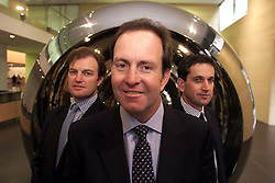 Dimension Data Results from BT .Back Left to Right, Richard Came, (marketing director) Malcolm Rutherford (F.D) Front, Jeremy Ord (Ex Chairman), November 9, 2000. Photo by Andrew Parsons / i-Images.
