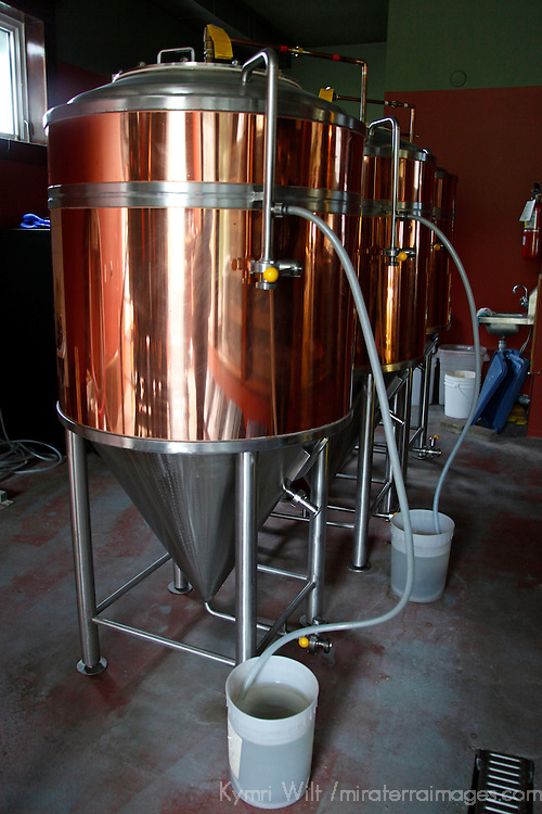 Canada, Nova Scotia, Guysborough. Microbrewery Kettle at the Rare Bird Brewpub.