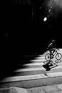 Sao Paulo, Brazil, Thursday - March 08, 2012: A biker rides his bike at Paulista avenue.  (photo: Caio Guatelli)