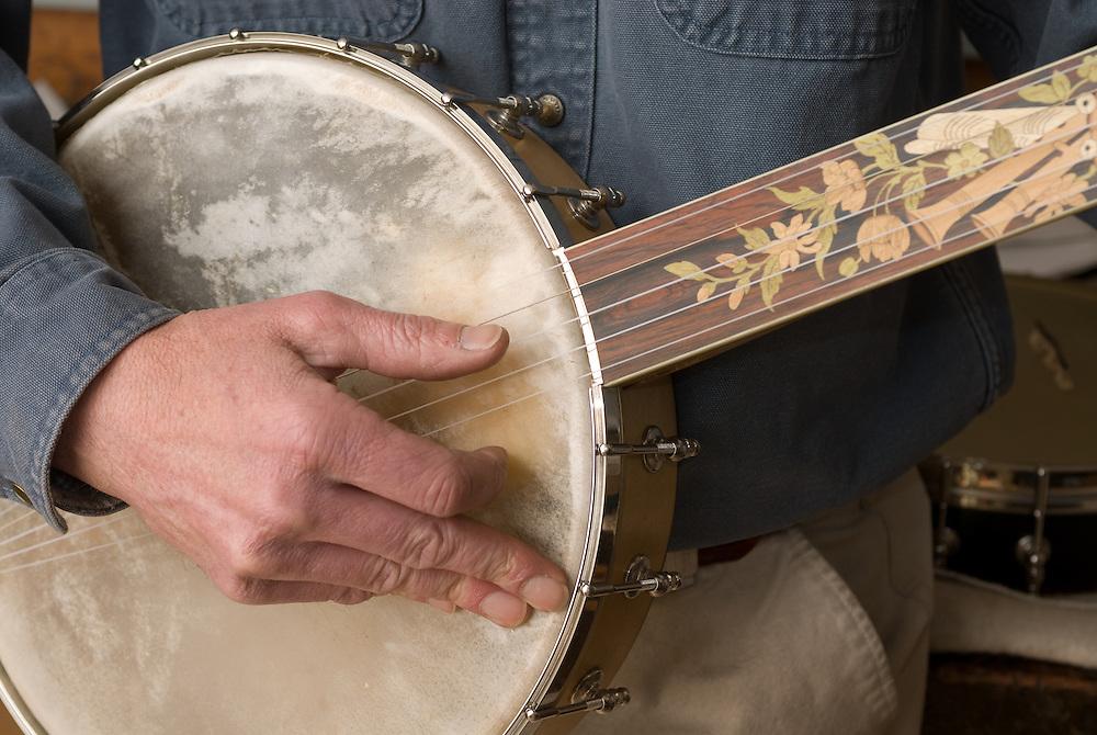 Man playing a banjo