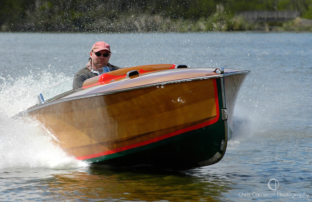 1936 Lorraine by John Hacker. Powered by a 4 litre, 4 cylinder Mercruiser. Built in 1998 by Craig Campbell of Hamilton, New Zealand.