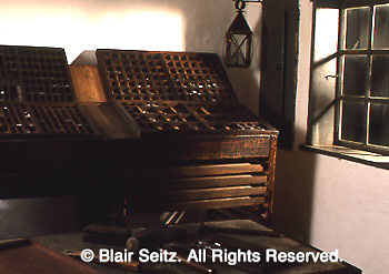 Ephrata Cloister, Ephrata, PA, early American religious sect, Printing Press