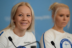 February 8, 2018 - Pyeonchang, Republic of Korea - KAISA MAKARAINEN of the Finnish biathlon team at a press conference prior to the start of the 2018 Olympic Games (Credit Image: © Christopher Levy via ZUMA Wire)