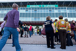 Exterior of the Arena Zlatorog prior to the handball match between RK Celje Pivovarna Lasko and RK Gorenje Velenje in 5th Round of 1. NLB Leasing Handball League 2012/13 on October 3, 2012 in Arena Zlatorog, Celje, Slovenia. (Photo By Vid Ponikvar / Sportida)