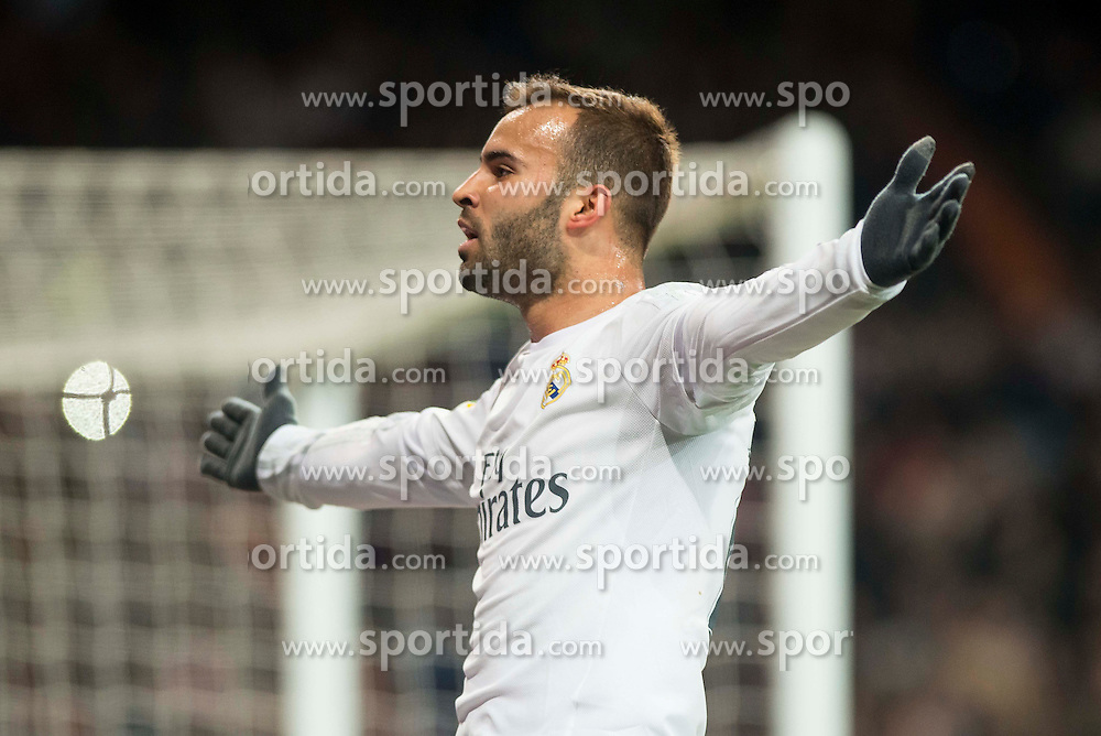 20.03.2016, Estadio Santiago Bernabeu, Madrid, ESP, Primera Division, Real Madrid vs Sevilla FC, 30. Runde, im Bild Real Madrid's Jese Rodriguez celebrating a goal // during the Spanish Primera Division 30th round match between Real Madrid and Sevilla FC at the Estadio Santiago Bernabeu in Madrid, Spain on 2016/03/20. EXPA Pictures &copy; 2016, PhotoCredit: EXPA/ Alterphotos/ Borja B.Hojas<br /> <br /> *****ATTENTION - OUT of ESP, SUI*****