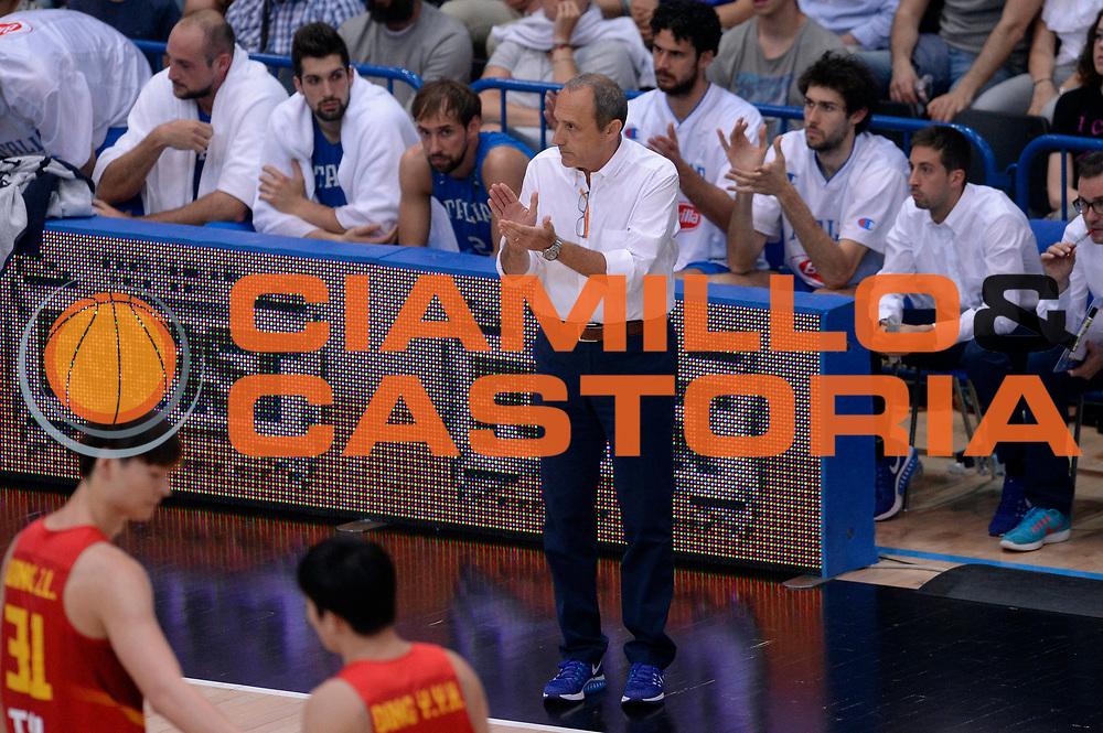 DESCRIZIONE : Trento Nazionale Italia Uomini Trentino Basket Cup Italia Cina Italy China<br /> GIOCATORE : Ettore Messina<br /> CATEGORIA : allenatore delusione<br /> SQUADRA : Italia Italy<br /> EVENTO : Trentino Basket Cup<br /> GARA : Trentino Basket Cup Italia Cina Italy China<br /> DATA : 18/06/2016<br /> SPORT : Pallacanestro<br /> AUTORE : Agenzia Ciamillo-Castoria/Max.Ceretti<br /> Galleria : FIP Nazionali 2016<br /> Fotonotizia : Trento Nazionale Italia Uomini Trentino Basket Cup Italia Cina Italy China
