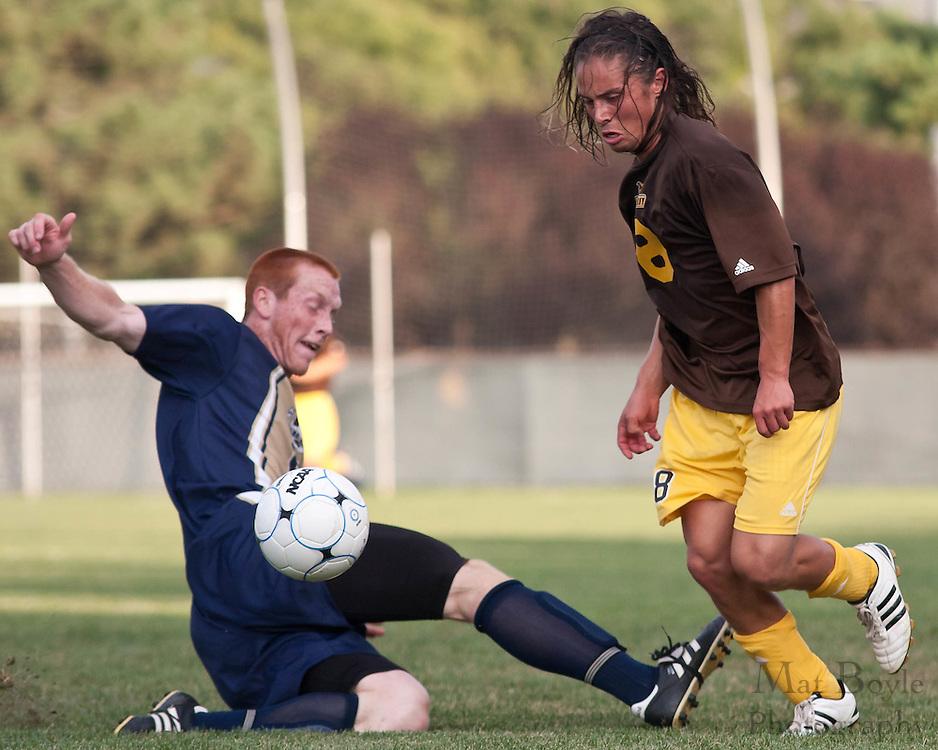2010-09-03: Rowan University  against St Joeseph's College in a men's soccer match.