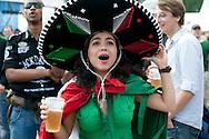South Arica-Mexico. Fan at Fan Park Hamburg,