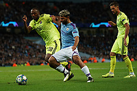 Manchester City's Sergio Aguero battles with Kevin Theophile-Catherine of Dinamo Zagreb<br /> <br /> Football - 2019 / 2020 UEFA Champions League - Champs Lge Grp C: Man City-D Zagreb<br /> <br /> , at Etihad Stadium<br /> <br /> Colorsport / Terry Donnelly