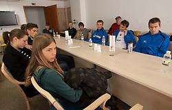 Kaja Obidic at press conference of Slovenia athlete team before European Cross country Championships in Albufeira in Portugal, on December 10, 2010 in AZS, Ljubljana, Slovenia. (Photo By Vid Ponikvar / Sportida.com)