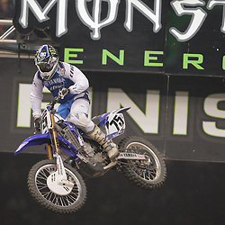 14 March 2009: Joshua Hill (75) races during the Monster Energy AMA Supercross race at the Louisiana Superdome in New Orleans, Louisiana
