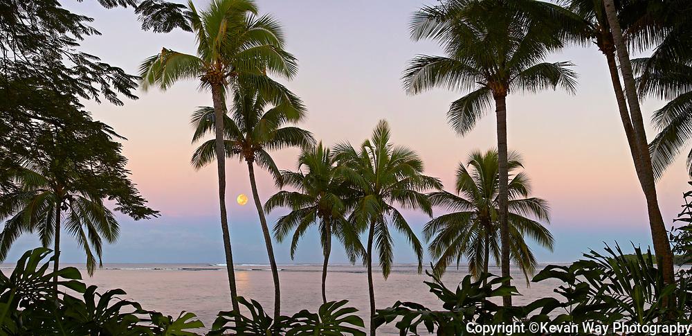 moon setting Fiji