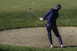 October 22, 2017 - Seogwipo, Jeju Island, South Korea - October 22, 2017-Seogwipo, Jeju Island, South Korea-Justin Thomas of USA putt on the 2th bunker during an PGA TOUR CJ CUP NINE BRIDGE DAY 4 at Nine Bridge CC in Jeju Island, South Korea. (Credit Image: © Ryu Seung Il via ZUMA Wire)