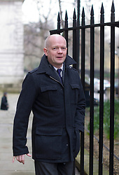 © London News Pictures. 18/03/2013 . London, UK.  British Foreign Minister William Hague arriving on  Downing Street. Photo credit : Ben Cawthra/LNP
