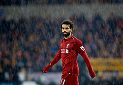 WOLVERHAMPTON, ENGLAND - Friday, December 21, 2018: Liverpool's Mohamed Salah in the rain during the FA Premier League match between Wolverhampton Wanderers FC and Liverpool FC at Molineux Stadium. (Pic by David Rawcliffe/Propaganda)