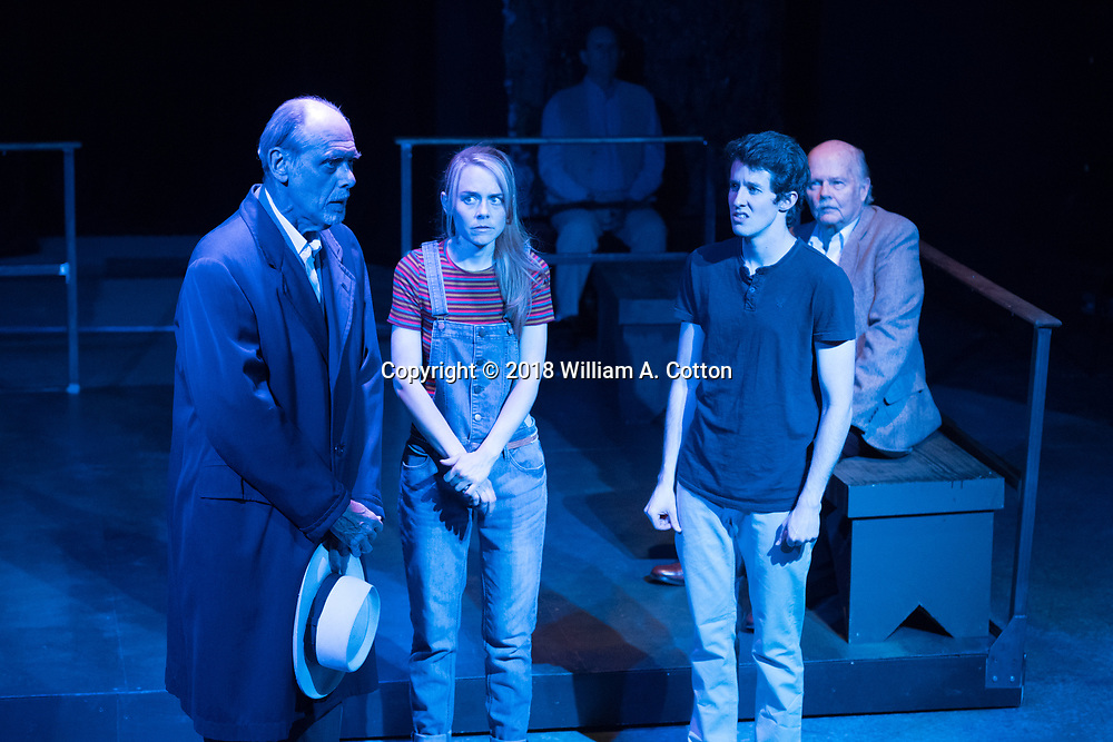 """The Bas Bleu Theatre Company rehearses its production of """"Equus."""" May 25, 2018."""
