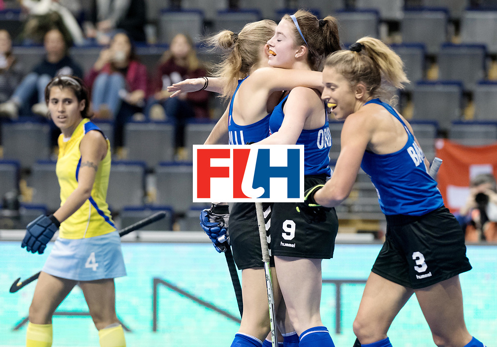 BERLIN - Indoor Hockey World Cup<br /> Women: United States - Kazakhstan<br /> foto: OROBONO Madison.<br /> WORLDSPORTPICS COPYRIGHT FRANK UIJLENBROEK