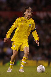 Manchester, England - Thursday, April 26, 2007: Liverpool's Astrit Ajdarevic in action against Manchester United during the FA Youth Cup Final 2nd Leg at Old Trafford. (Pic by David Rawcliffe/Propaganda)