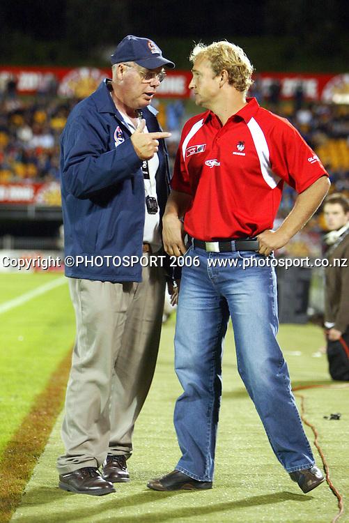 20 March, 2004. Ericsson Stadium, Auckland, New Zealand. NRL Round 2. New Zealand Warriors v St George Illawarra Dragons.<br />Dragon's coach, Nathan Brown.<br />Pic: Andrew Cornaga/Photosport