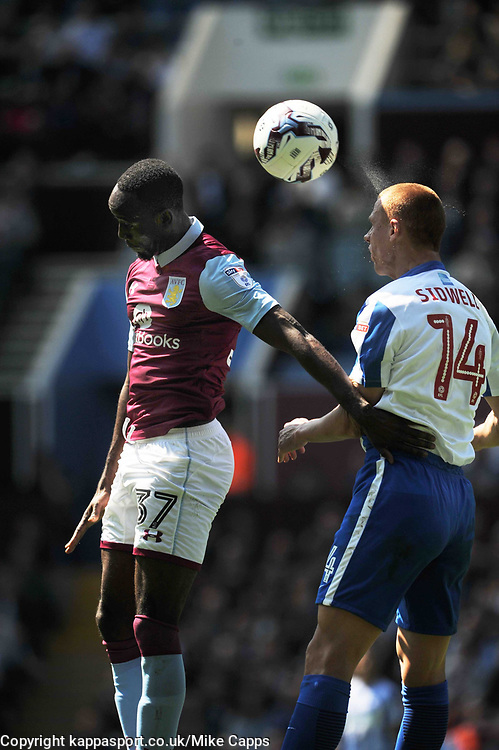 STEVE SIDWELL  BRIGHTON AND HOVE ALBION HOLDS OF ASTON VILLA ALBERT ADOMAH, Aston Villa v Brighton &amp; Hove Albion Sky Bet Championship Villa Park, Brighton Promoted to Premiership Sunday 7th May 2017 Score 1-1 <br /> Photo:Mike Capps