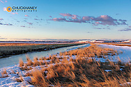 Wetlands in spring at Freezeout Lake WMA near Choteau, Montana, USA