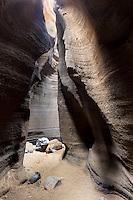 INTERIOR DE LAS CARCAVAS DEL VOLCAN MALACARA, LA PAYUNIA, MALARGUE, PROVINCIA DE MENDOZA, PATAGONIA, ARGENTINA (PHOTO BY © MARCO GUOLI - ALL RIGHTS RESERVED)