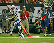 ATLANTA - AUGUST 29:  Running back Michael Bennett #29 of the San Diego Chargers runs towards the end zone for a first half touchdown during the game against the Atlanta Falcons at the Georgia Dome on August 29, 2009 in Atlanta, Georgia.  (Photo by Mike Zarrilli/Getty Images)