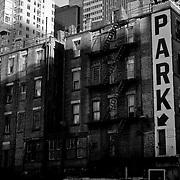 Park Sign in Manhattan. Big parking