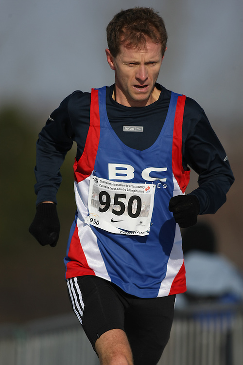 Guelph, Ontario ---29/11/08---  NORMAN C. TINKHAM runs in the master's race at the 2008 AGSI Canadian Cross Country Championships in Guelph, Ontario, November 29, 2008..Sean Burges Mundo Sport Images