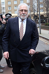 Dave Lee Travis leaving Southwark Crown Court in London after he was cleared of 12 out of 14 charges, Thursday, 13th February 2014. Picture by Stephen Lock / i-Images