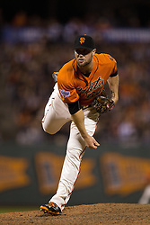 SAN FRANCISCO, CA - JUNE 12:  Hunter Strickland #60 of the San Francisco Giants pitches against the Arizona Diamondbacks during the ninth inning at AT&T Park on June 12, 2015 in San Francisco, California.  The Arizona Diamondbacks defeated the San Francisco Giants 1-0. (Photo by Jason O. Watson/Getty Images) *** Local Caption *** Hunter Strickland