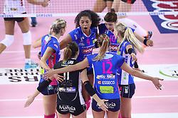 22-10-2016 ITA: Metalliche Montichiari - Igor Gorgonzola Novara, Montichiari<br /> Novara wint met 3-0 / Celeste Plak #4, Laura Dijkema #14<br /> <br /> ***NETHERLANDS ONLY***