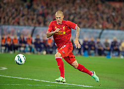 MELBOURNE, AUSTRALIA - Wednesday, July 24, 2013: Liverpool's Martin Skrtel in action against Melbourne Victory during a preseason friendly match at the Melbourne Cricket Ground. (Pic by David Rawcliffe/Propaganda)