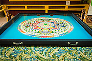 Buddhist Sand Mandala, Paleaku Gardens Peace Sanctuary, Kona Coast, The Big Island, Hawaii USA