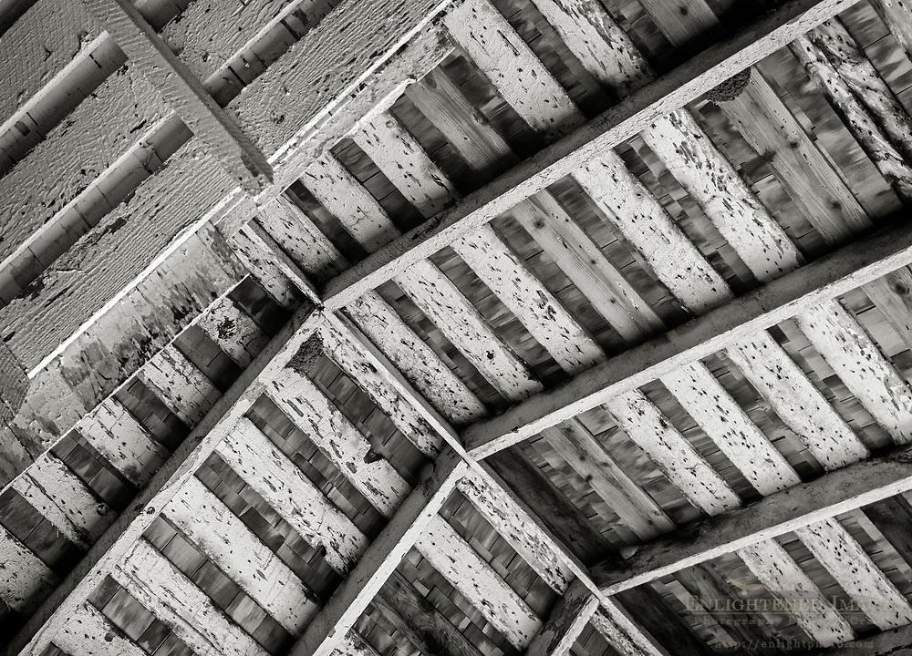 Wooden barn roof detail, Point Reyes National Seashore, Marin County, California