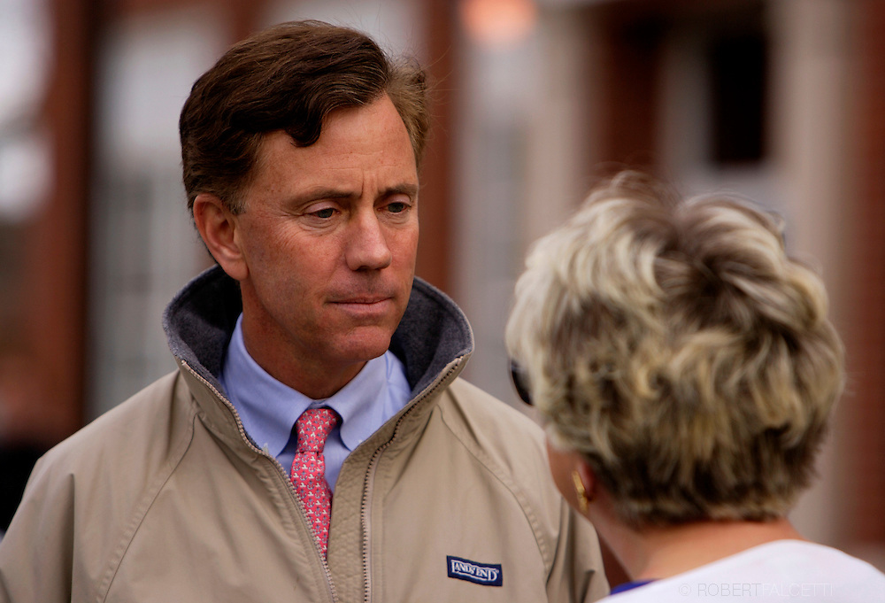 NEW BRITAIN, CT - NOVEMBER 7: Democratic candidate for Senate Ned Lamont campaigns outside the Vance School November, 7, 2006 in New Britain, Connecticut. Lamont is in a tight race against incumbent Sen. Joseph I. Lieberman (D-CT) for the Senate seat.  (Photo by Bob Falcetti/Getty Images)