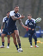 Picture by Andrew Tobin/Focus Images Ltd +44 7710 761829.08/02/2013.Courtney Lawes of England during Training at Pennyhill Park, Bagshot.