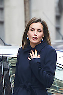 Queen Letizia of Spain attends a Working meeting of the Spanish Association Against Cancer (AECC) at AECC headquarters on January 10, 2017 in Madrid
