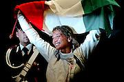 &copy; Filippo Alfero<br /> Torino, 01/10/2006<br /> Sport, Scherma<br /> Mondiali di Scherma 2006 - Torino - Fioretto femminile <br /> Nella foto: Margherita Granbassi, campionessa del Mondo fioretto