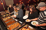 (from right) Shawn & Jennifer Doerner and John & Jeanette Nagle as Riverside Area Chamber of Commerce hosts an International Night featuring Indian and American food at the Filling Station Sports Bar & Grill in Riverside, Monday, March 26, 2012.  Owner Doctor Suresh Gupta prepared Indian cuisine including Bean Sprout Cucumber Salad, Butter Chicken, Samosas, Rice/Naan Bread and Veggie Khorma.