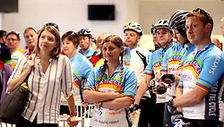 Cyclists listen to instructions before taking part in the 111 mile cycling challenge organised by the Community Foundations of Bristol and Gloucester Rugby - Mandatory by-line: Robbie Stephenson/JMP - 03/07/2016 - CYCLING - Ashton Gate - Bristol, United Kingdom - Break The Cycle Challenge 2016